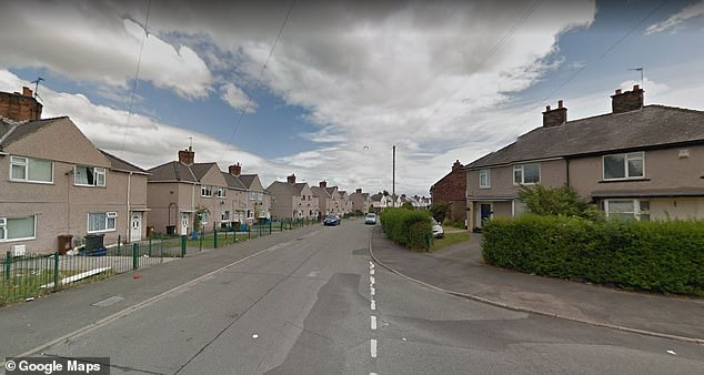 The emergency vehicle was taken while paramedics treated someone on Green Lane, in Shotton, Flintshire (pictured)