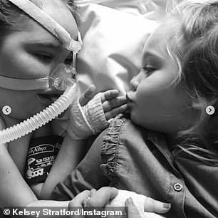 Fears: Kelsey explained that because of her SMA Kelsey has a 'weak immune system' and it is 'very dangerous' for her to have COVID-19