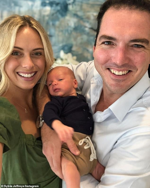 Proud parents: The TV star couple welcomed their son, Oscar, in February