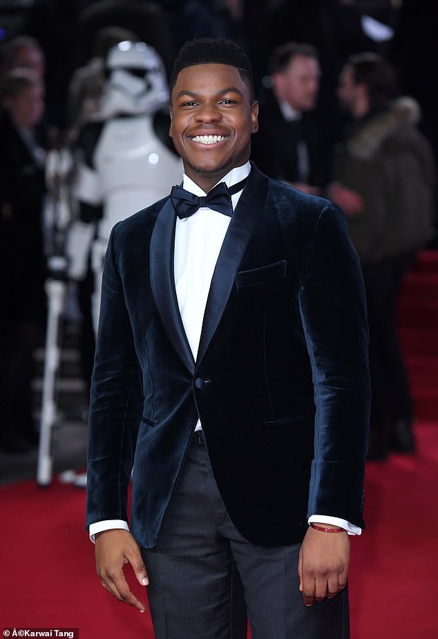 Iconic role: John Boyega has enthusiastically embraced the suggestion that he should become the next James Bond, as Daniel Craig bows out of the iconic role. Pictured in 2017