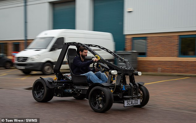 David Speight, CEO of Scaled is driving the new 3D printed electric vehicle they hope could reshape the nature of commuter travel in the UK