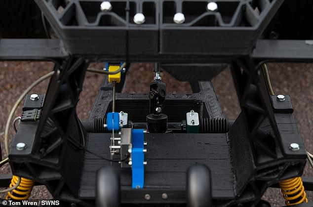 Unlike a traditional electric car that you plug into a charger, for the Chameleon you remove the battery, plug that into a charge, then put it back in the vehicle