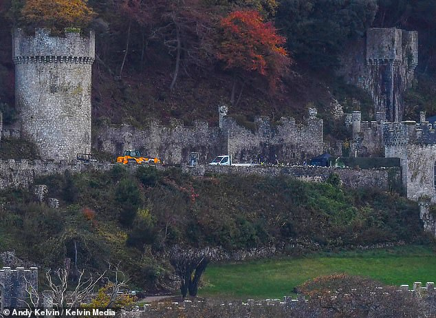 Sighting: The series was forced to relocate to the supposedly haunted ruin in Wales amid the COVID-19 pandemic, and as the premiere episode aired on ITV on Sunday night viewers noticed a shadowy figure stood at one of the castle windows during the broadcast