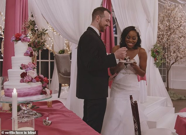 Meant to be: Yet it was soon clear to see how strong their love actually is at the altar as Cameron started sobbing while delivering his sweet vows