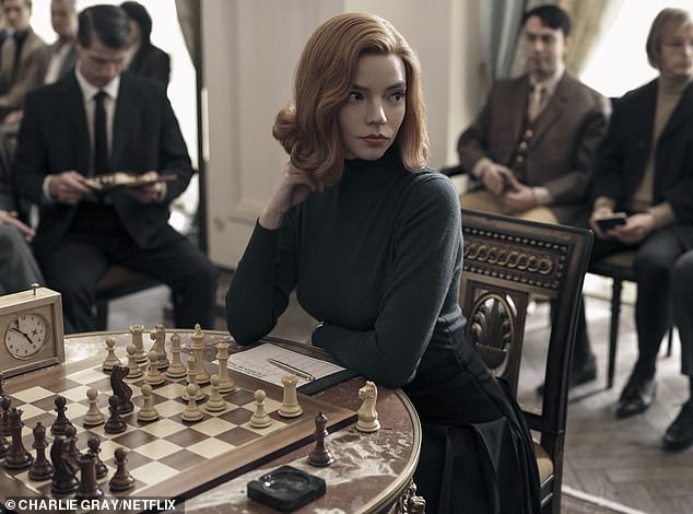 Leading lady: She received critical acclaim for her role in Netflix series The Queen's Gambit (pictured), and is set to play a younger Charlize Theron in the upcoming Mad Max prequel