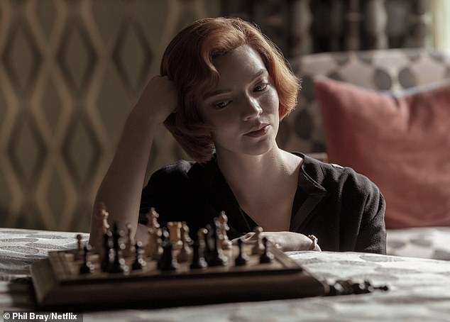 Another round: Anya recently revealed that she 'certainly' would do a second season of hit Netflix show The Queen's Gambit, based on a book by American author Walter Tevis
