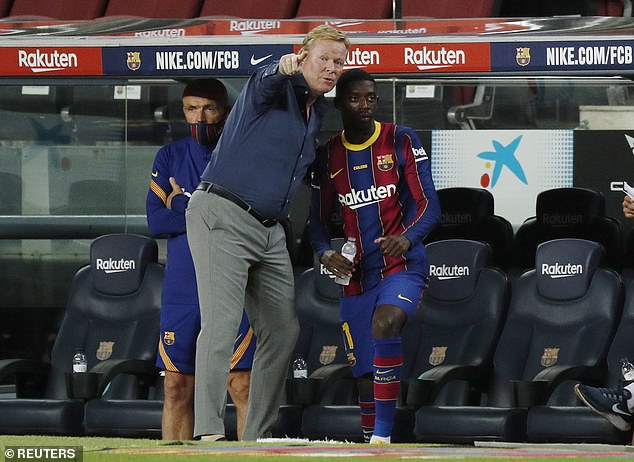 Dembele has been handed a reprieve by Ronald Koeman with Barca hoping for a new deal