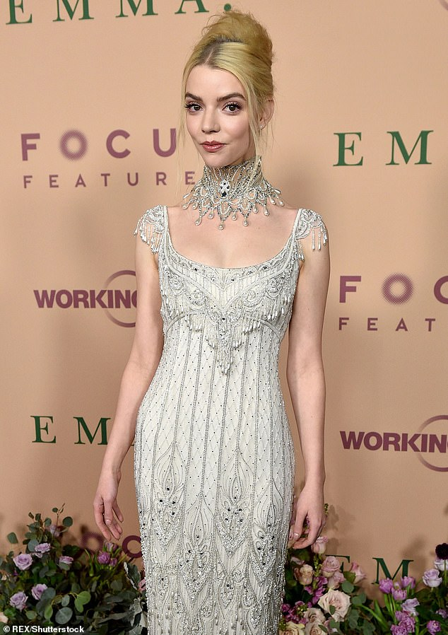 Beautiful: Anya Taylor-Joy has revealed that she doesn't see herself as 'beautiful enough' to be cast in films, and has even gone as far as to brand herself 'ugly'. Pictured in February