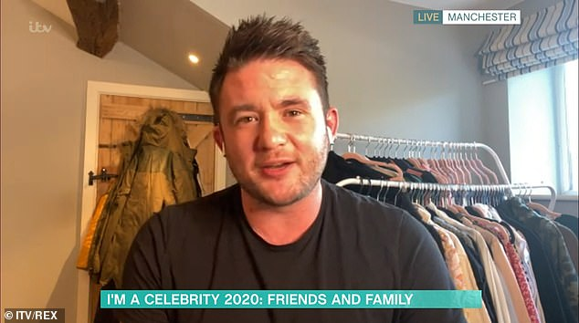 Jibe: Shane Nolan was left unimpressed when Linda Robson admitted she is already finding his father Shane Richie 'annoying' on I'm A Celebrity... Get Me Out Of Here!