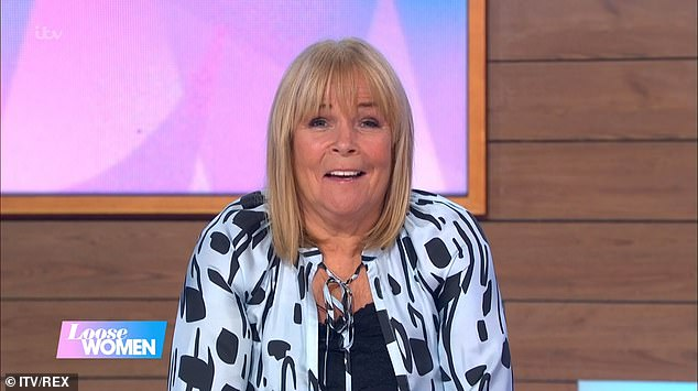 Honest: Speaking on Monday's episode of Loose Women, Linda, 62, told how she thinks Shane is 'trying to be' a comedian