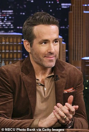 Tragic: Ryan Reynolds, 44, opened up about a conversation he shared the late Alex Trebek shortly before the TV icon's death from pancreatic cancer earlier this month