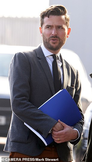Jason Knauf (pictured), who was communications secretary to the Duke and Duchess of Cambridge and the Duke and Duchess of Sussex, 'and / or other members of the Kensington Palace communications team contributed writing the letter, '' the newspaper's lawyers told the Supreme Court
