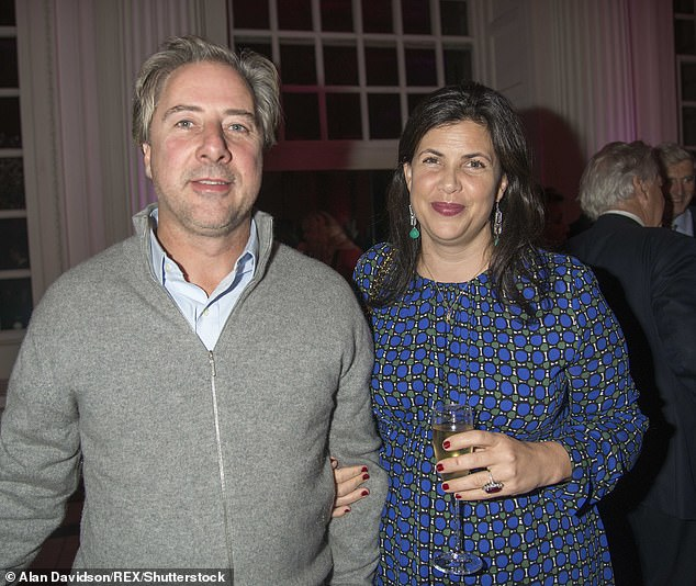 Couple: The presenter, 49, was accused of potentially spreading the virus by journeying to one of her homes in Devon to isolate when partner Ben Andersen already had symptoms