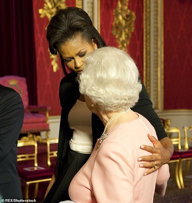 Barack Obama says the Queen 'didn't seem to mind' when wife Michelle put arm around the monarch
