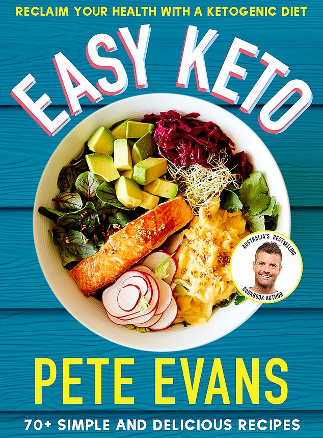 End of the line: The publisher of several of his books was quick to distance itself from Evans, and declared his Easy Keto cookbook (pictured), released last year, would be its last