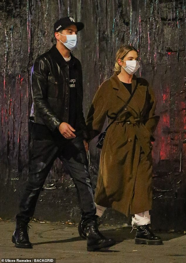 Ashley Benson and G-Eazy share a tender moment on evening stroll together in NYC