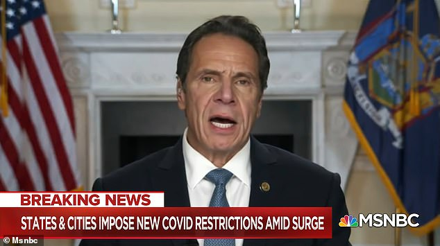 Gov. Andrew Cuomo has slammed Donald Trump's threat to withhold a vaccine from New York as 'hollow' and said the American people simply don't trust the president to announce an effective, safe cure during an interview on MSNBC's The Reid Out Monday night