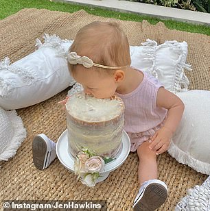 'We adore you, cheeky monkey': Jennifer shared a series of adorable photos of her daughter Frankie on Instagram to celebrate her first birthday in October