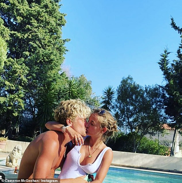 Loved up: Tiffany is currently in a relationship with footballer Cameron McGeehan, who earlier in November shared this snap to mark his girlfriend's 27th birthday