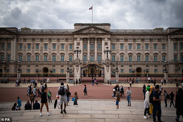 In the drama, Fagan accidentally smashes a valuable vase but he told the publication that the scene was 'totally made up' since he would've paid for anything if he'd broken it. Pictured: Buckingham Palace