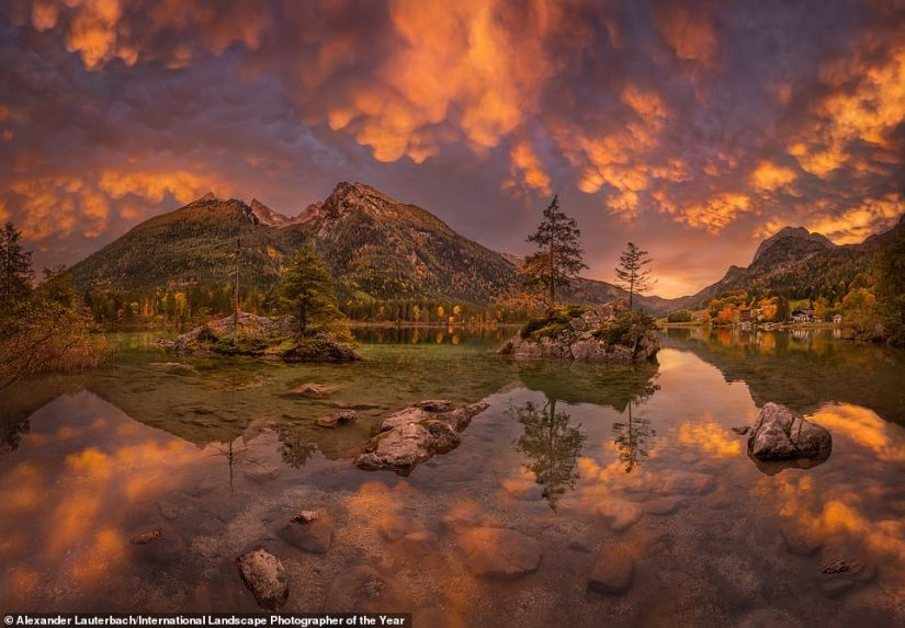 An incredible shot of Hintersee, a lake inBerchtesgaden National Park in Germany. The amazing scene was captured by photographer Alexander Lauterbach and is in the top 101 image list