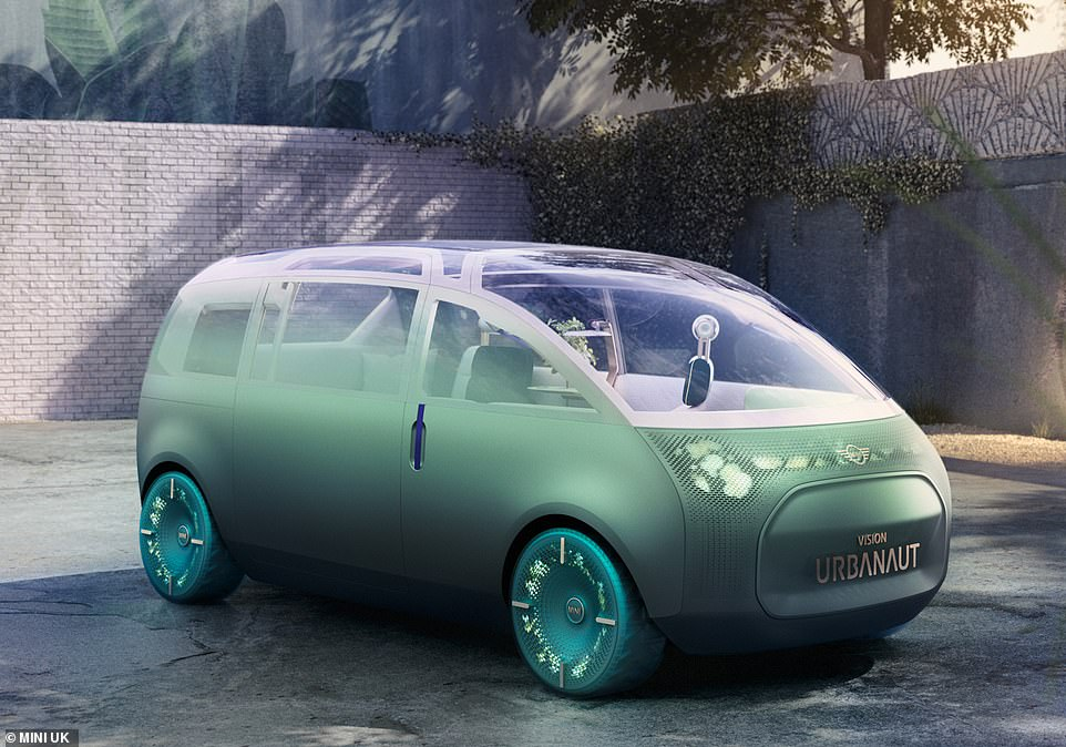 Vision of the future: This is the Mini Urbanaut concept - a compact MPV the BMW-owned brand says it could be making in a decade's time