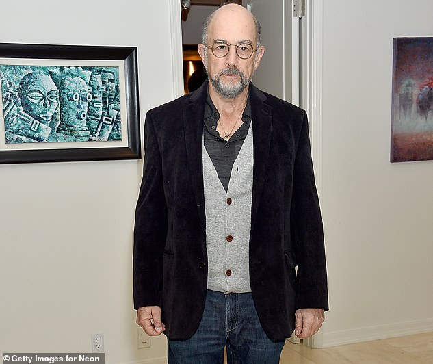 A tough turn:Richard Schiff has been admitted to a hospital as he continues to fight COVID-19. The West Wing actor took to Twitter on Monday to share the news with his followers as his wife Sheila Kelley also has the coronavirus; seen in December 2019
