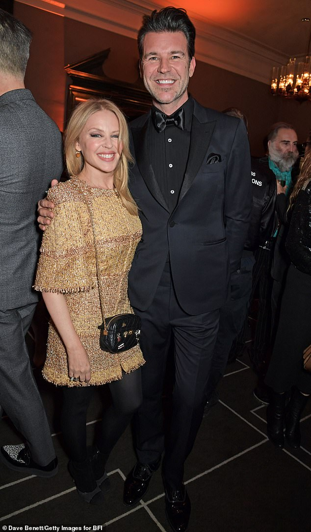 'Right time': The singer said her partner, 46, who is the creative director of British GQ, is 'so kind' and they met at the 'right time' after having been linked since 2018 (photo from March)