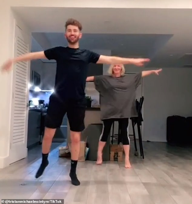 Busting some moves: Some showcased other talents, like Tristan Mcintyre , who performed choreography for Em Jaccs' original song that started it all
