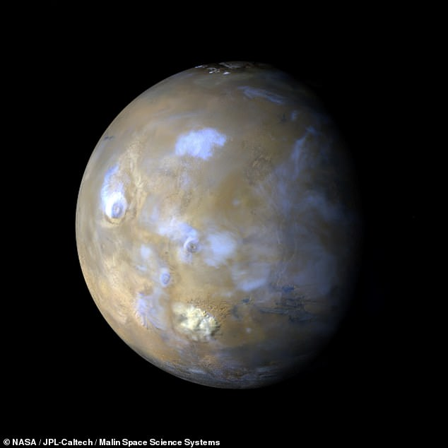 An 'out-of-this-world' ringtone — made through a musical interpretation of the weather patterns on the planet Mars, pictured — has been released by NASA