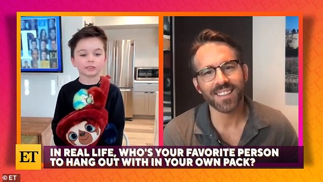 Favorite person: Ryan Reynolds talked about his youngest daughter Betty, 13 months, in a new interview with ET