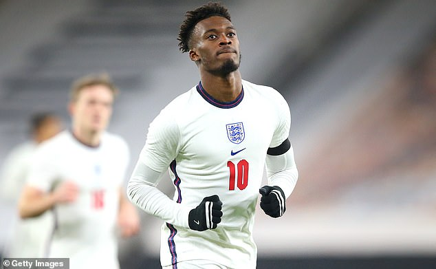 Callum Hudson-Odoi got England's opener on a comfortable night for the Under 21s
