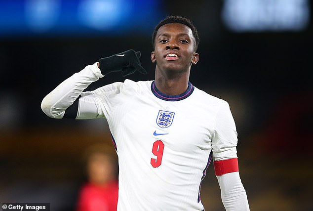 Eddie Nketiah scored twice in the second-half as England strolled to victory at Molineux