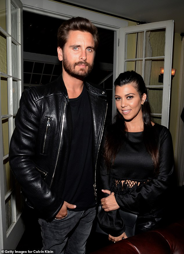 Baby mom: Scott dated KUWTK star Kourtney Kardashian, 41;  Scott and Kourtney pictured in 2015