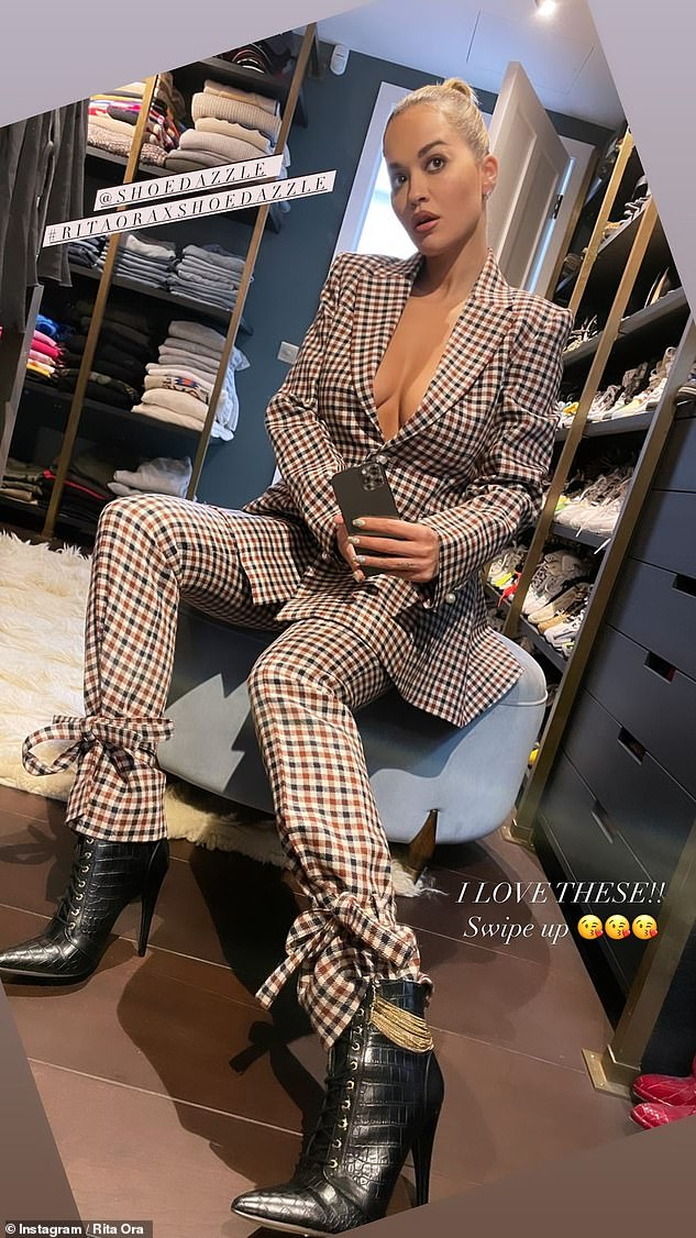 Working it:Rita Ora was at her best as she uploaded radiant images to Instagram on Tuesday evening