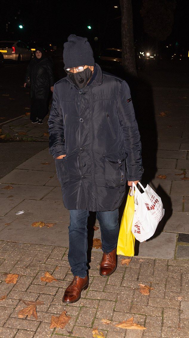 The journalist was seen returning home this month carrying an Indian takeaway and wine.Mr Bashir, 57, the BBC's religious affairs editor, has not responded to requests for comment.