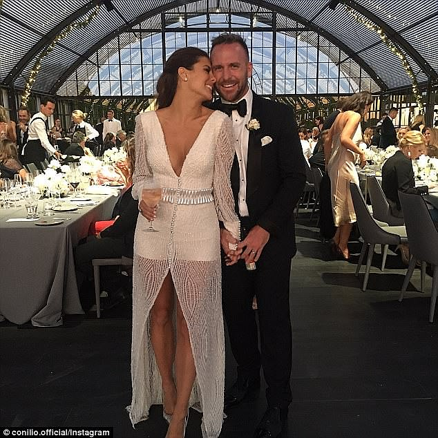 Was Lauren Phillips' Insta-perfect wedding the last straw for publicity-shy husband Lachlan Sparks? Photos have resurfaced from their ritzy 2017 ceremony as he claims 'she ONLY cared about herself' during their one-year marriage. Pictured: Lauren and Lachlan at their wedding reception