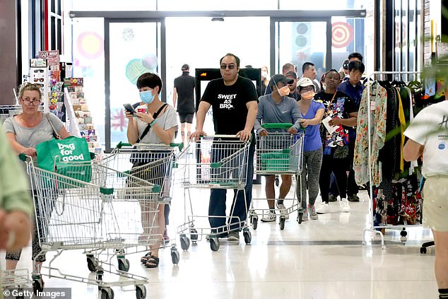 There are currently 35 active COVID-19 infections across the state (shoppers pictured)