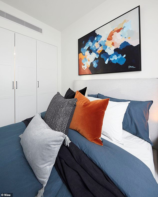 Simple: Another guest bedroom was more modest in style, but just as modern