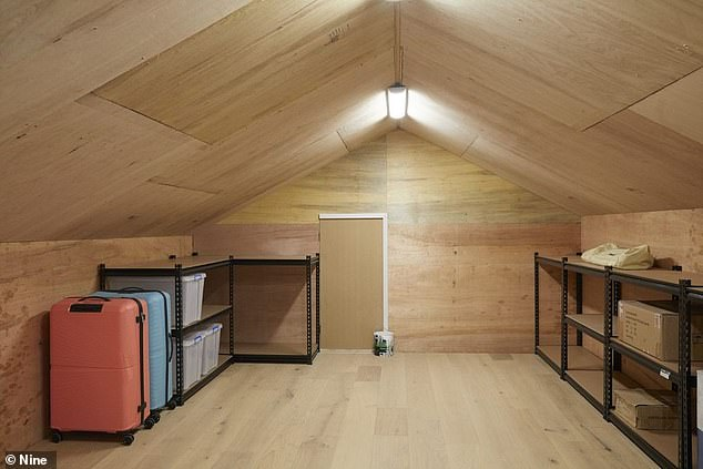Lots of storage: The pair created a little attic space for owners