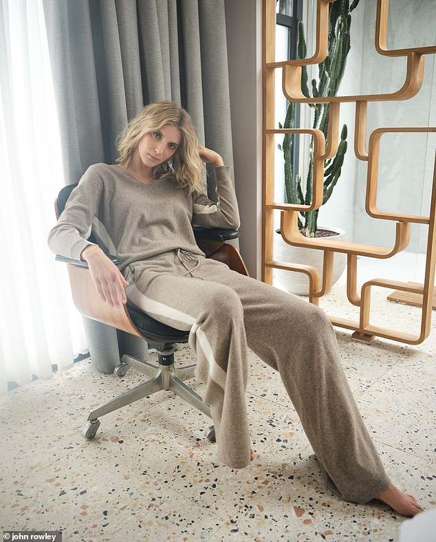 A luxe knit tracksuit complete with flattering side stripes? Jaeger nails it Jumper, £125, and trousers, £125, Jaeger, part of 12 Days of Christmas Dressing collection at johnlewis.com