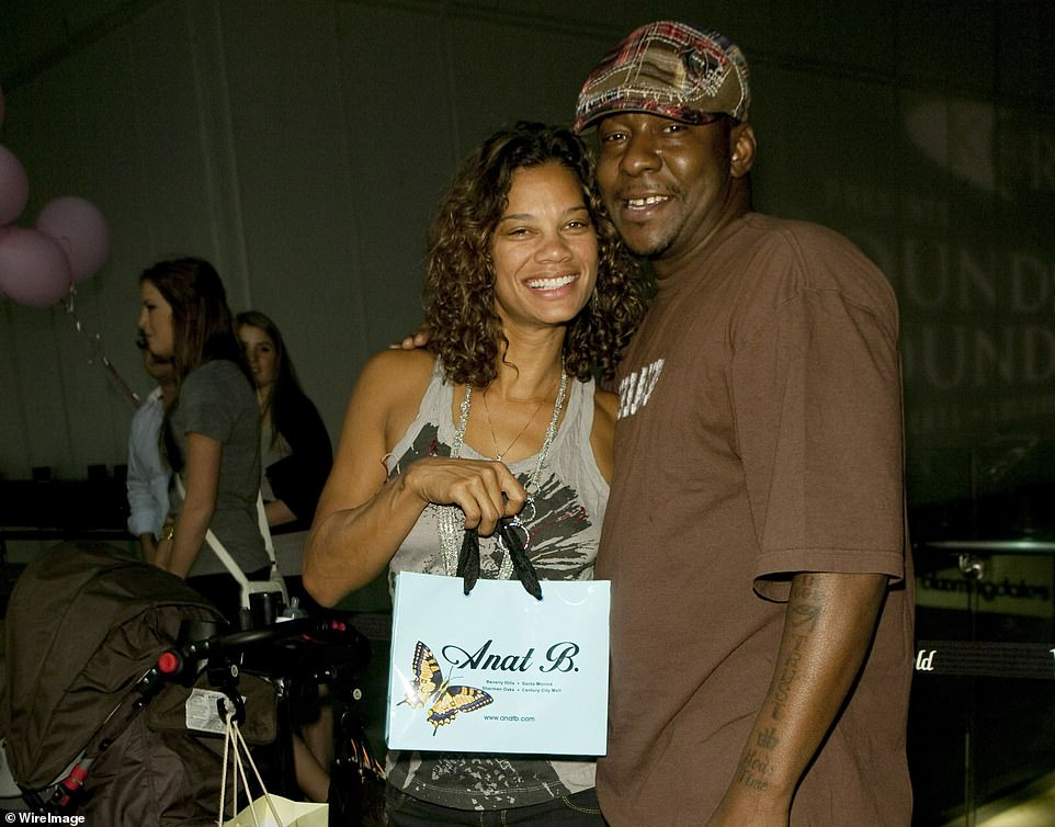 Bobby Jr's mother Kim Ward and father Bobby Brown attend the grand opening of Anat B. on October 1, 2009 in Century City, California