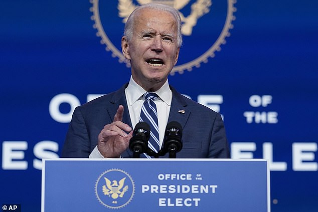 Soros has donated to Democratic presidential candidates including Joe Biden (pictured), Hilary Clinton and Barack Obama [File photo]