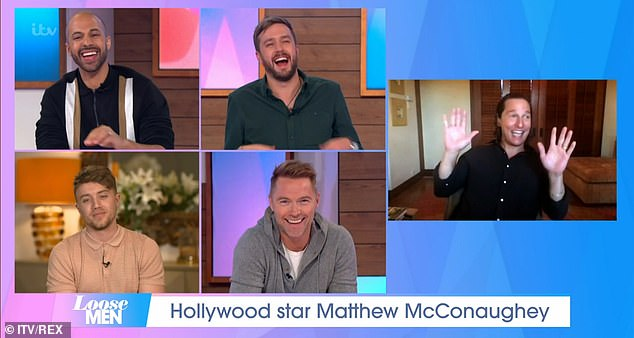 'It was intentional': The Fool's Gold star recalled his acting journey via a live link with hosts Marvin Humes, Iain Stirling, Roman Kemp and Ronan Keating