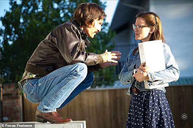 'Took two years off': Matthew referred to moving from films like The Wedding Planner to hard-hitting films like Dallas Buyers Club (pictured with Jennifer Garner in 2013)