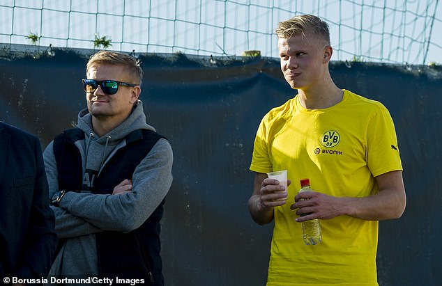 Erling Haaland's father Alf-Inge (L) admits you never know what will happen in football