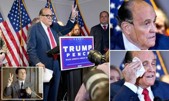 Rudy Giuliani gives voting fraud 'evidence' at odd press conference | Daily  Mail Online