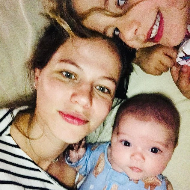 'We were about to find out the sex of our baby after many times hearing the heartbeat.After a few seconds, my body went cold. I looked up at the nurse and I just knew,' Tammin said. Pictured with daughters Phoenix and Lennon