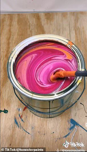 Paid for: In the beginning, he only filmed videos when he was mixing paint for a customer — but soon he started buying paint with his employee discount to mix specifically for the channel