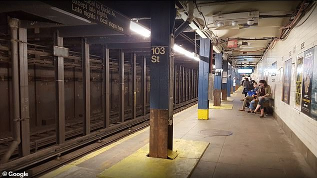 Weisman was sucker-punched by an unidentified assailant at the 103rd Street subway station on Manhattan's Upper West Side on Tuesday. The image above is an undated file photo of the station